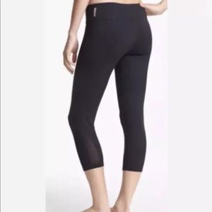 Zella black leggings Small with Mesh cutouts
